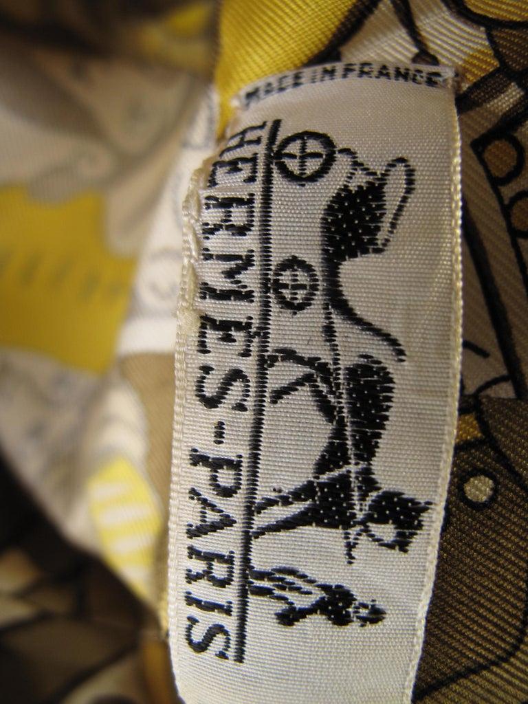 Women's Hermes Silk Printed Shirt Dress, 1970s For Sale