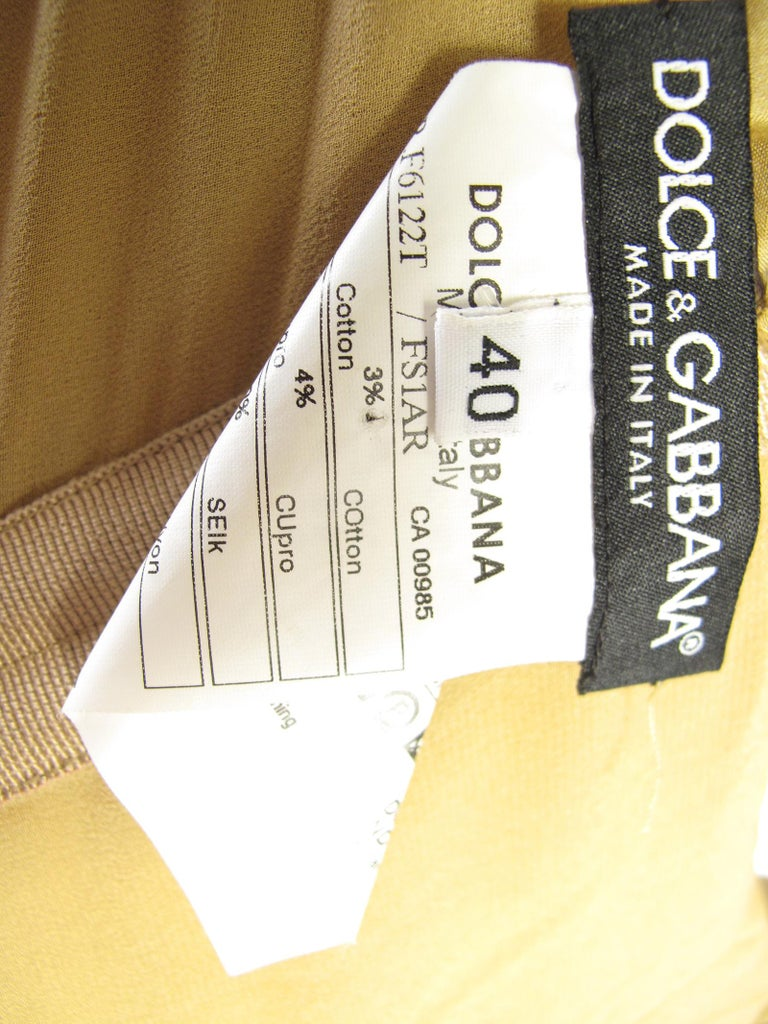 Women's Dolce & Gabbana Silk Chiffon Leopard Print Dress  For Sale