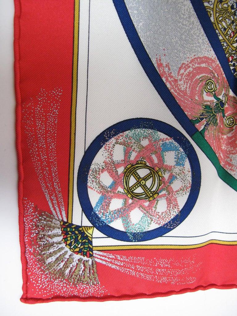 Hermes silk scarf feux dartleice 1937- 1987. Condition: Excellent 17