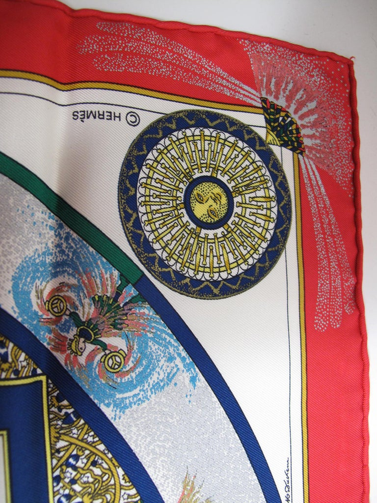 Women's Hermes Silk Scarf Feux Dartleice, 1987 For Sale