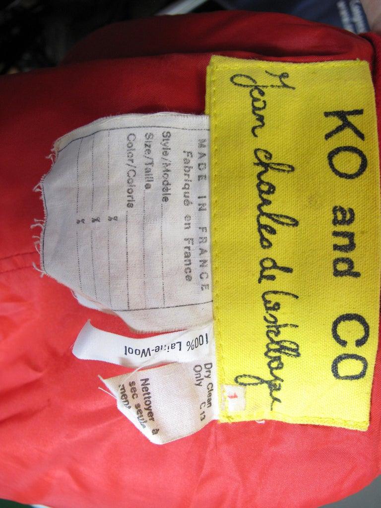 Jean Charles de Castelbajac Vest and Pants Set  In Excellent Condition For Sale In Austin, TX