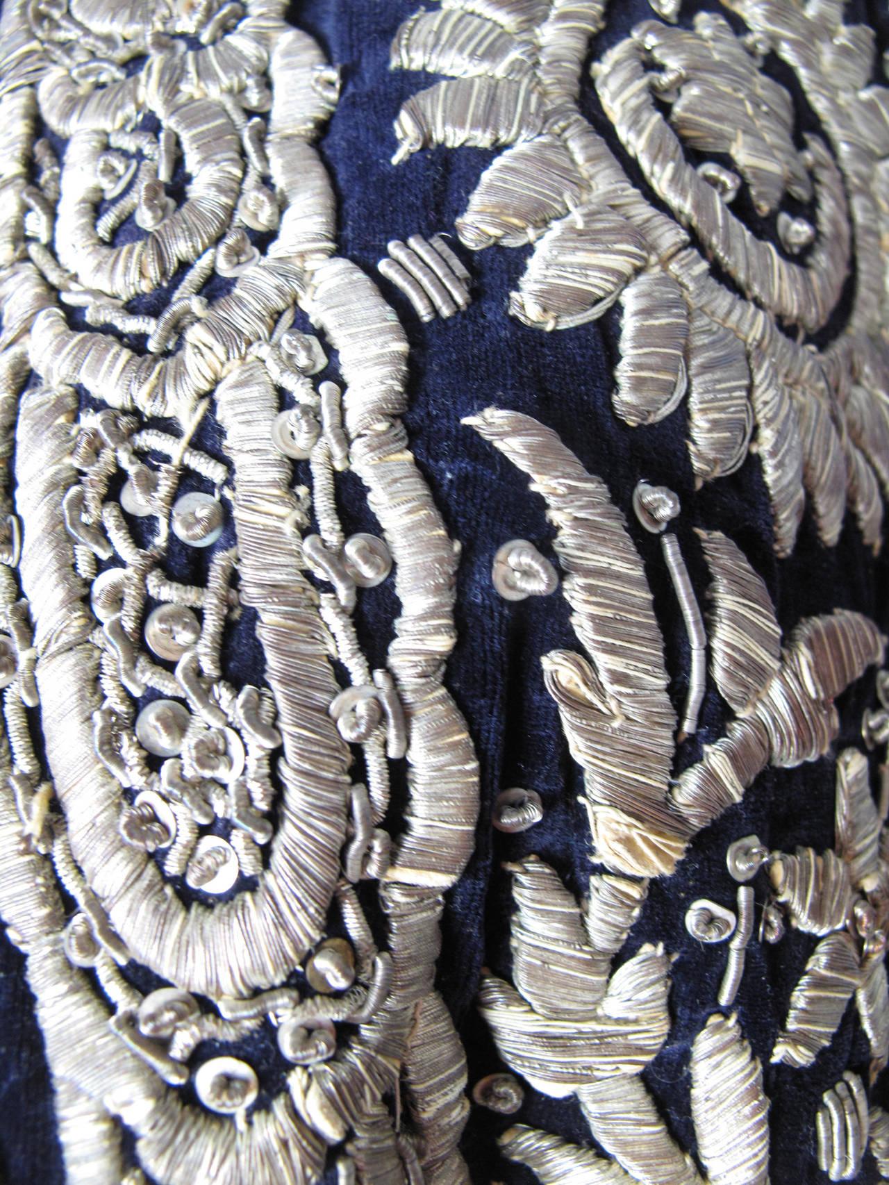 Harem Coat black velvet with gold thread 5