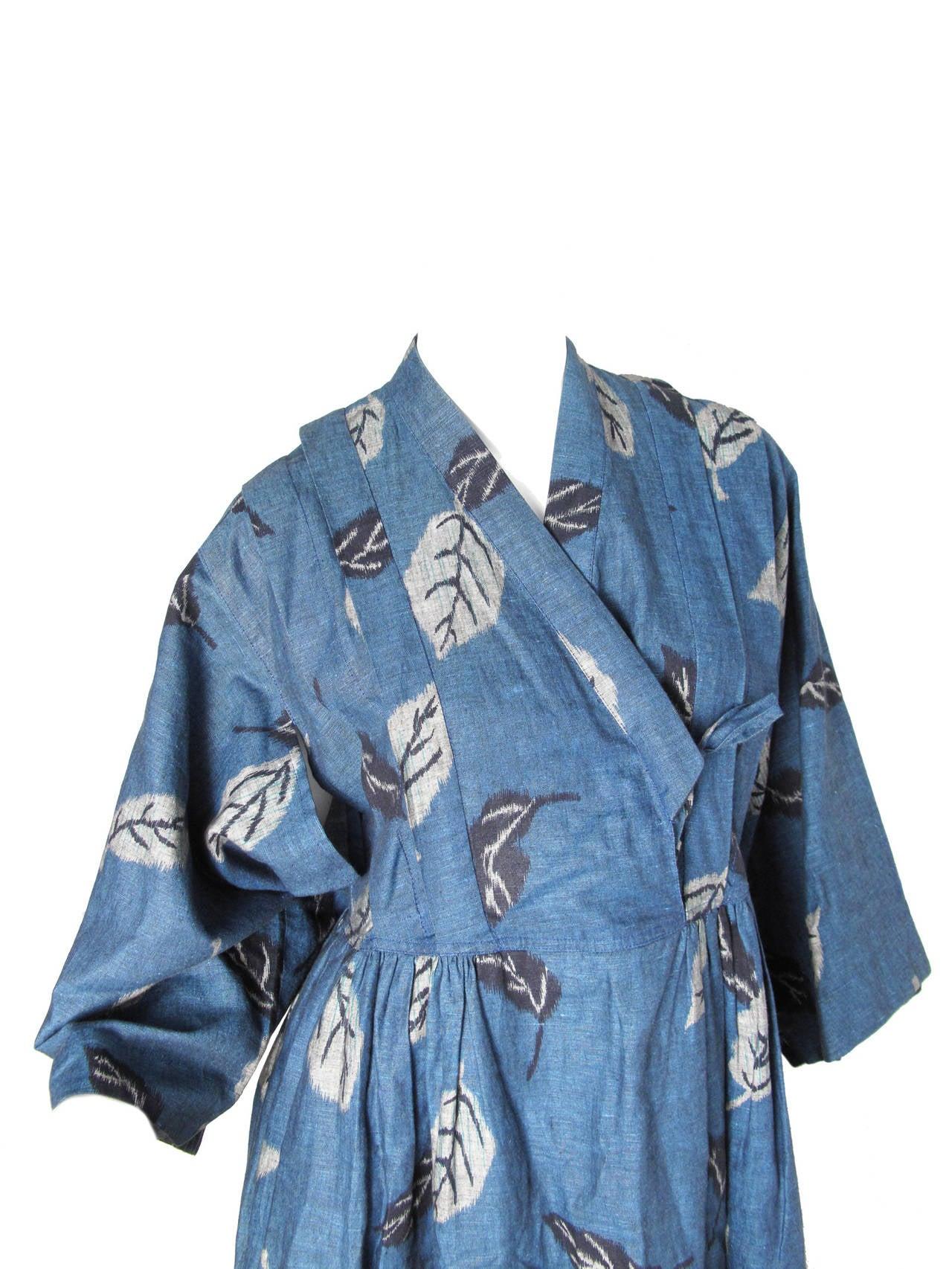 1980s Kenzo Kimono Dress 4