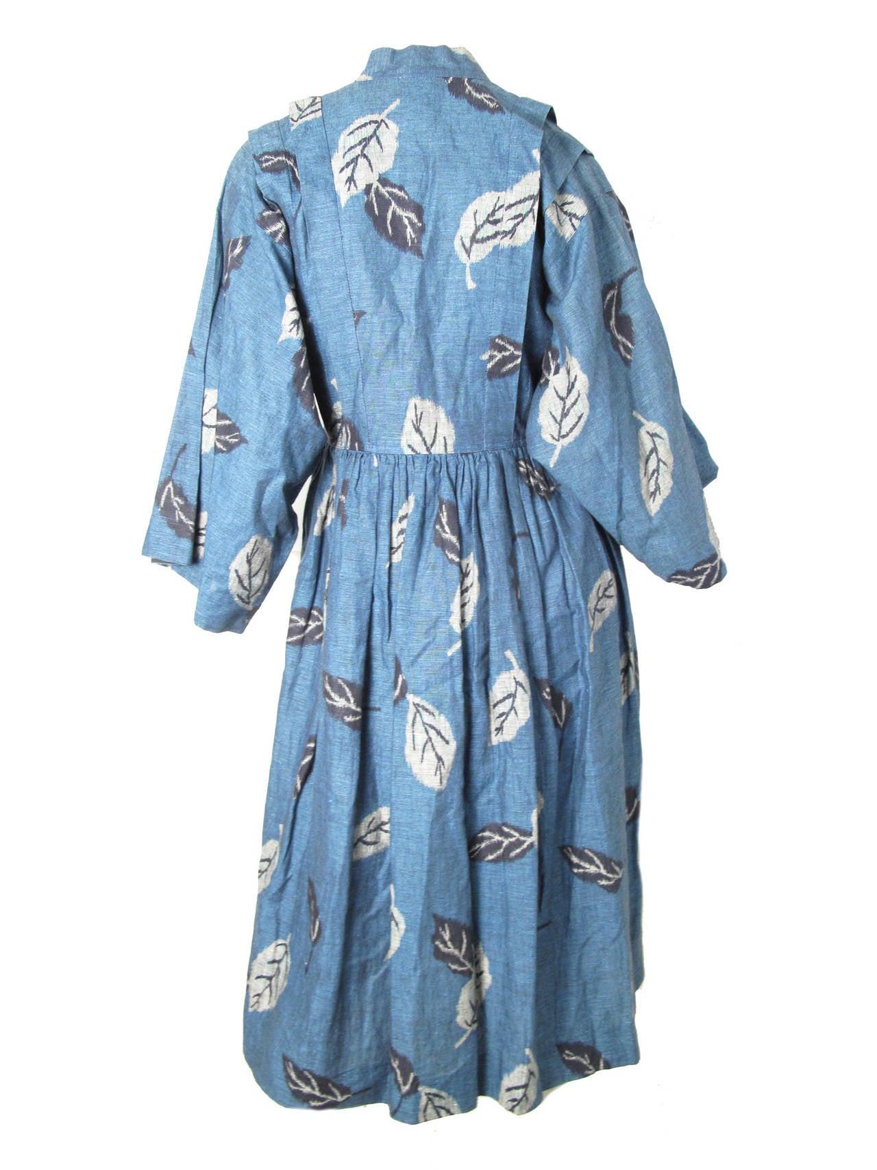 1980s Kenzo Kimono Dress 3