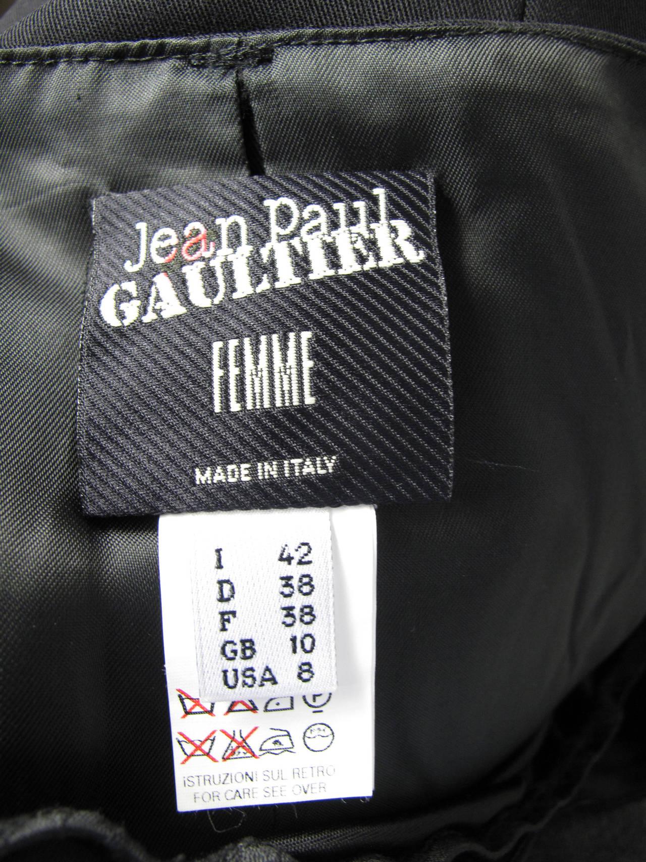 Jean Paul Gaultier black pencil skirt, lace slip 4