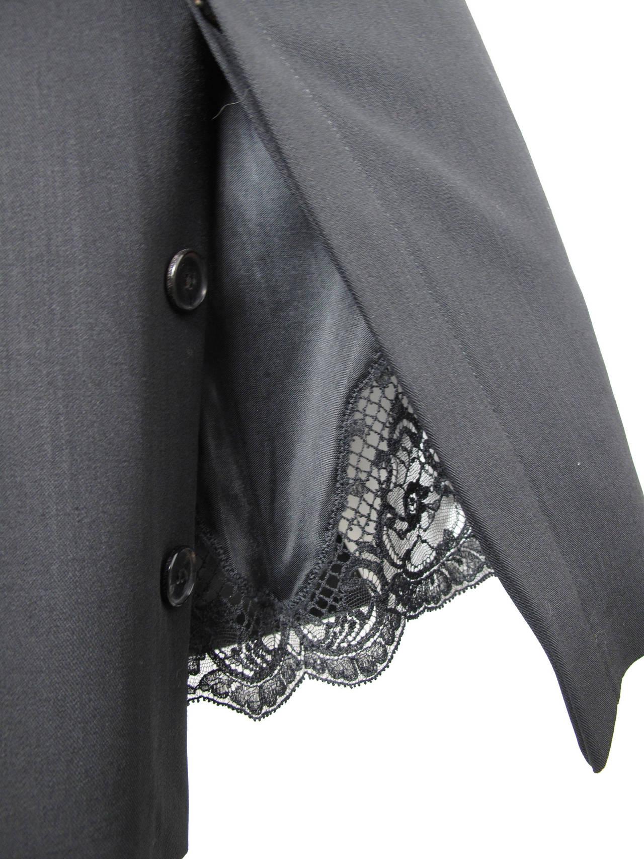 Jean Paul Gaultier black pencil skirt, lace slip 3