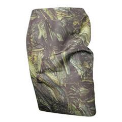 Jil Sander Nylon Green Paint Print Skirt