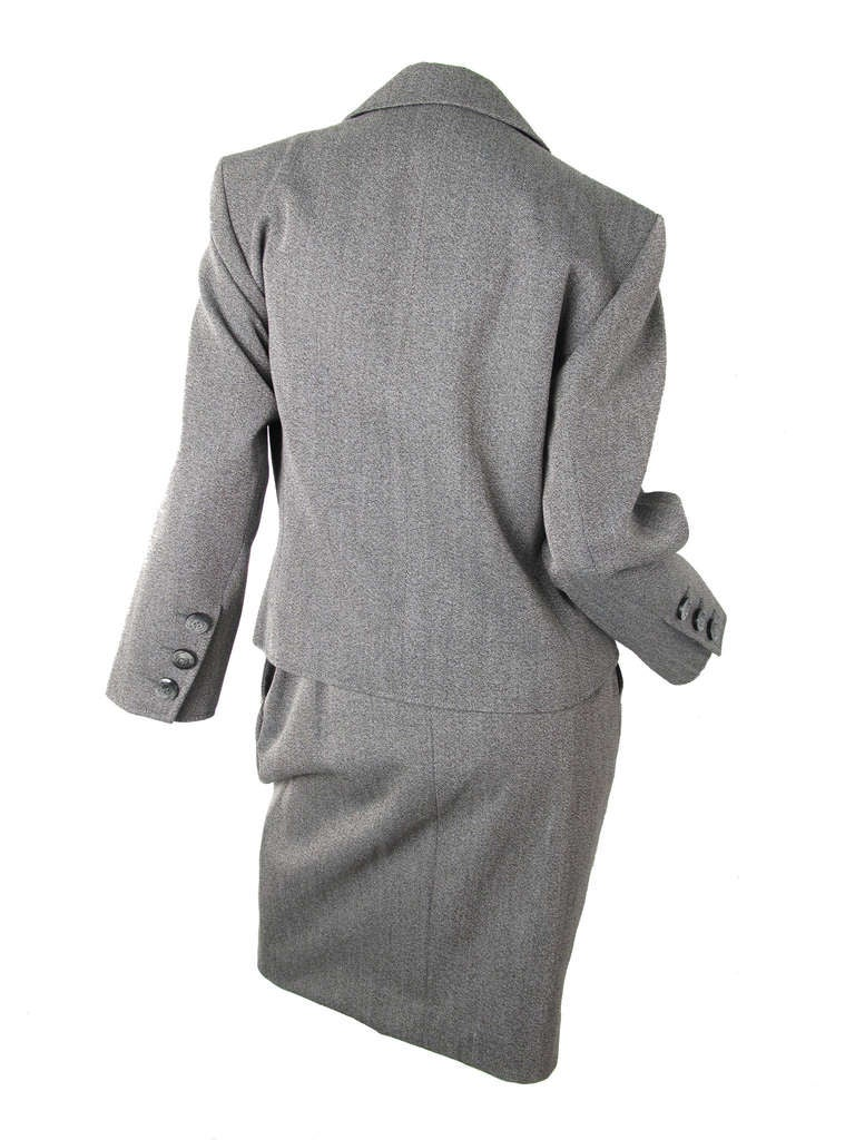 Gray Yves Saint Laurent grey suit For Sale