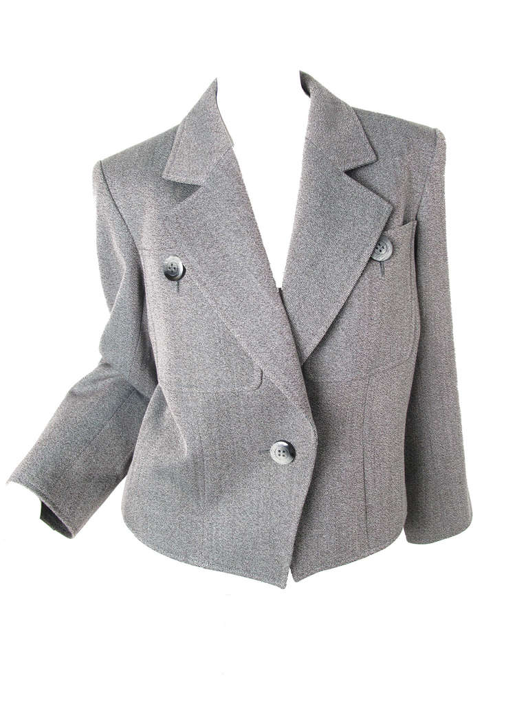 Women's Yves Saint Laurent grey suit For Sale