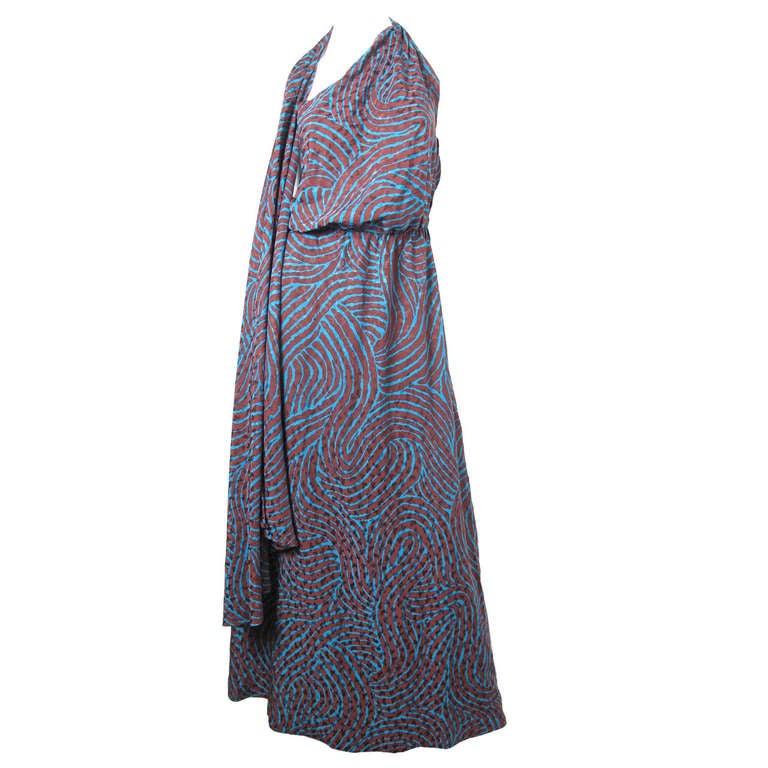 Rare Yves Saint Laurent one shoulder silk gown - sale 1