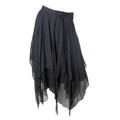 Oleg Cassini silk handkerchief skirt