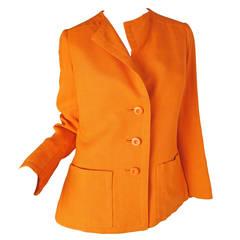 Geoffrey Beene Boutique Orange Linen Jacket