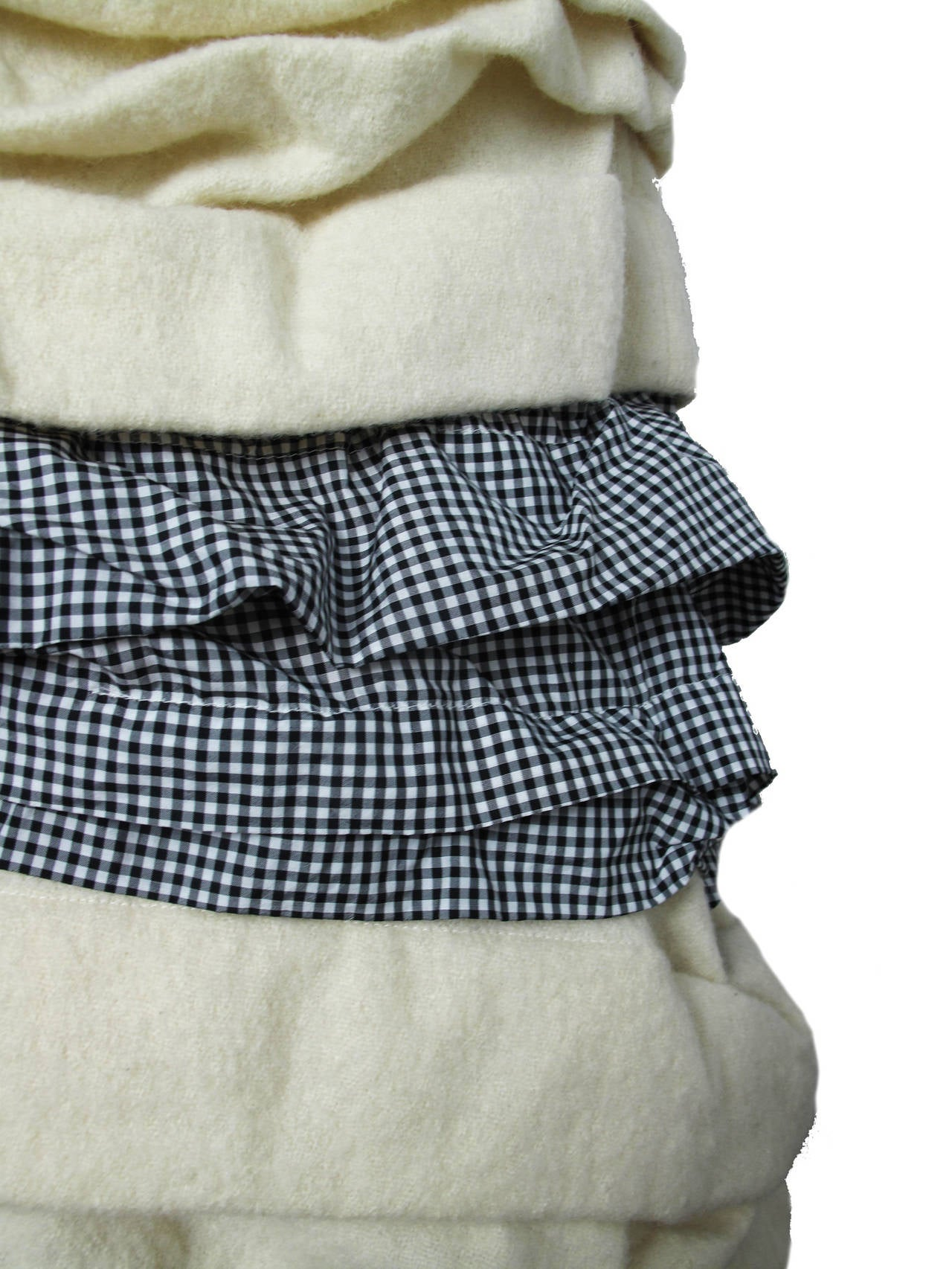 Women's Comme des Garcons Ruffle Skirt with Gingham  For Sale