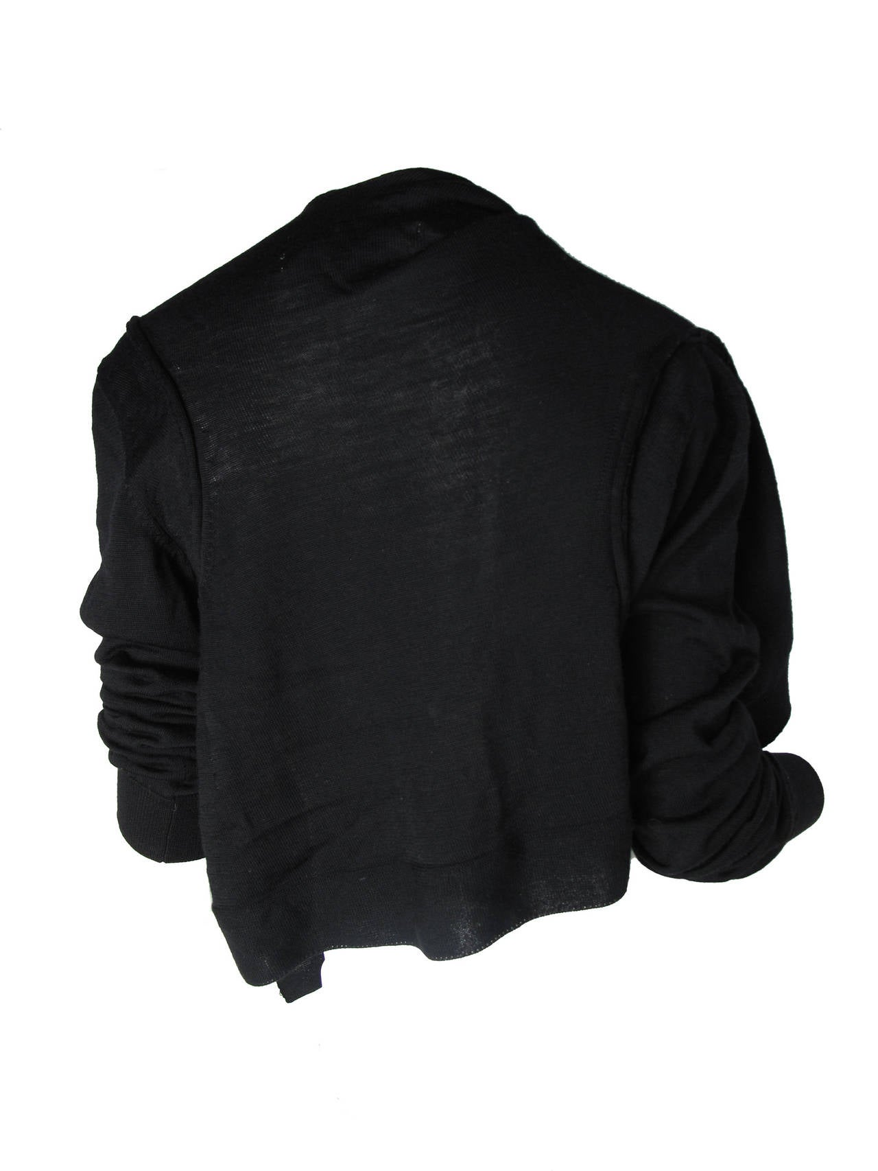 Comme des Garcons Black Wool Cardigan 2