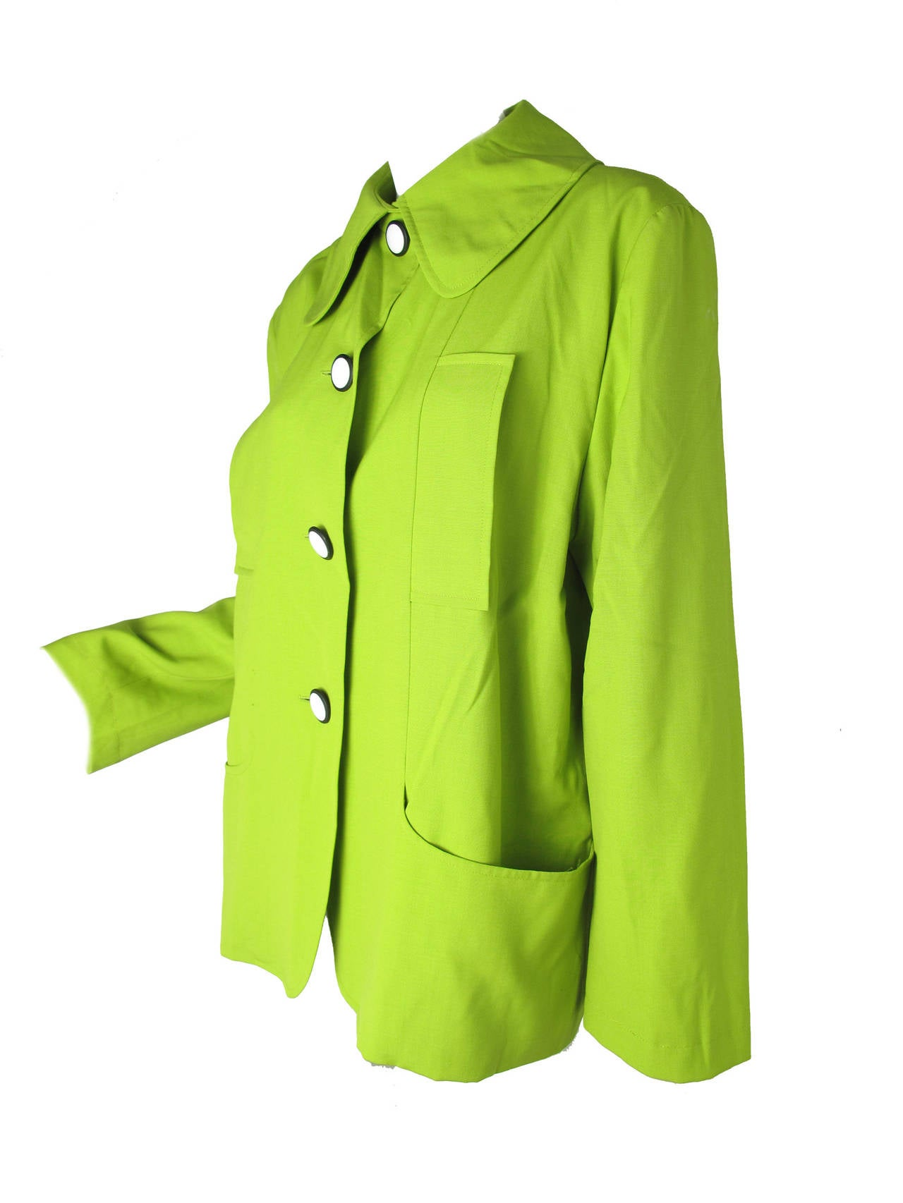 1990s Christian Lacroix Neon Green Jacket In Excellent Condition For Sale In Austin, TX