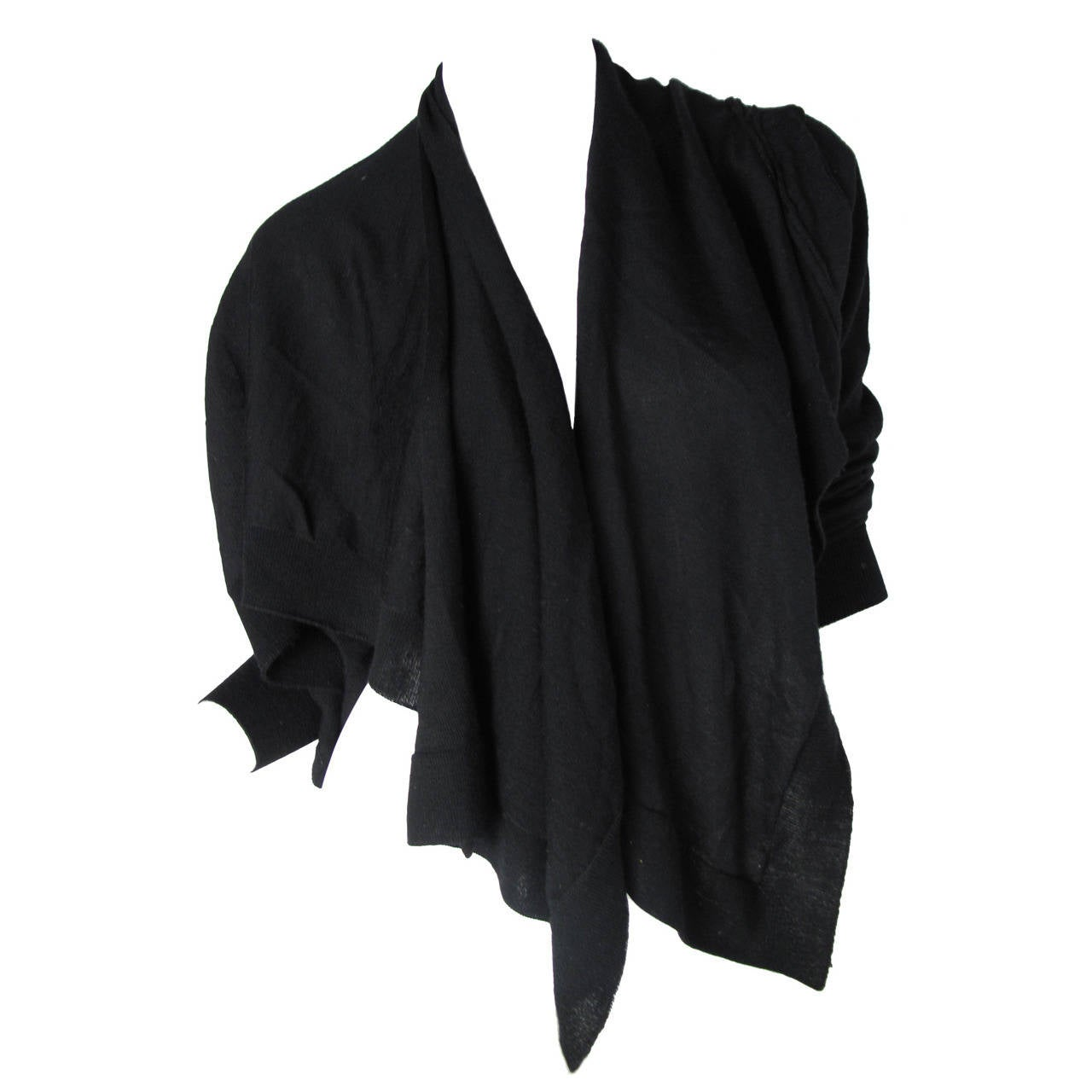 Comme des Garcons Black Wool Cardigan 1