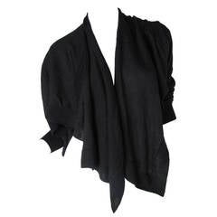 Comme des Garcons Black Wool Cardigan