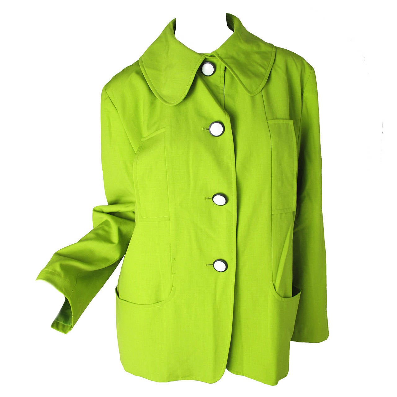 1990s Christian Lacroix Neon Green Jacket For Sale