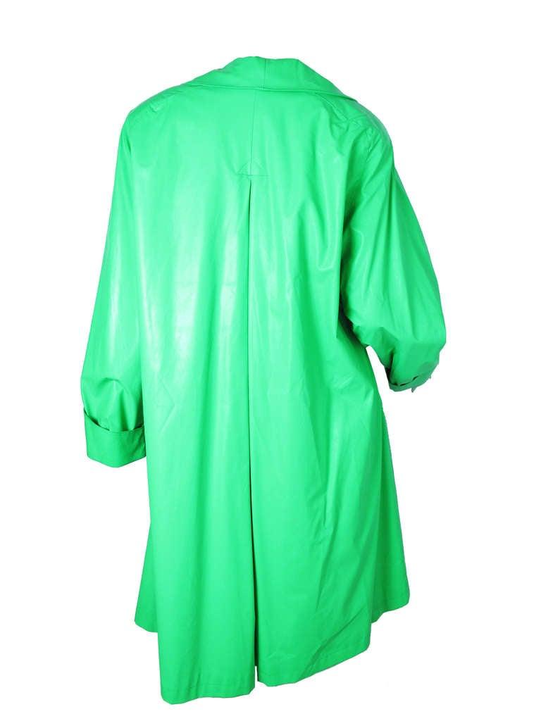 1970s Ilie Wacs bright green raincoat 2