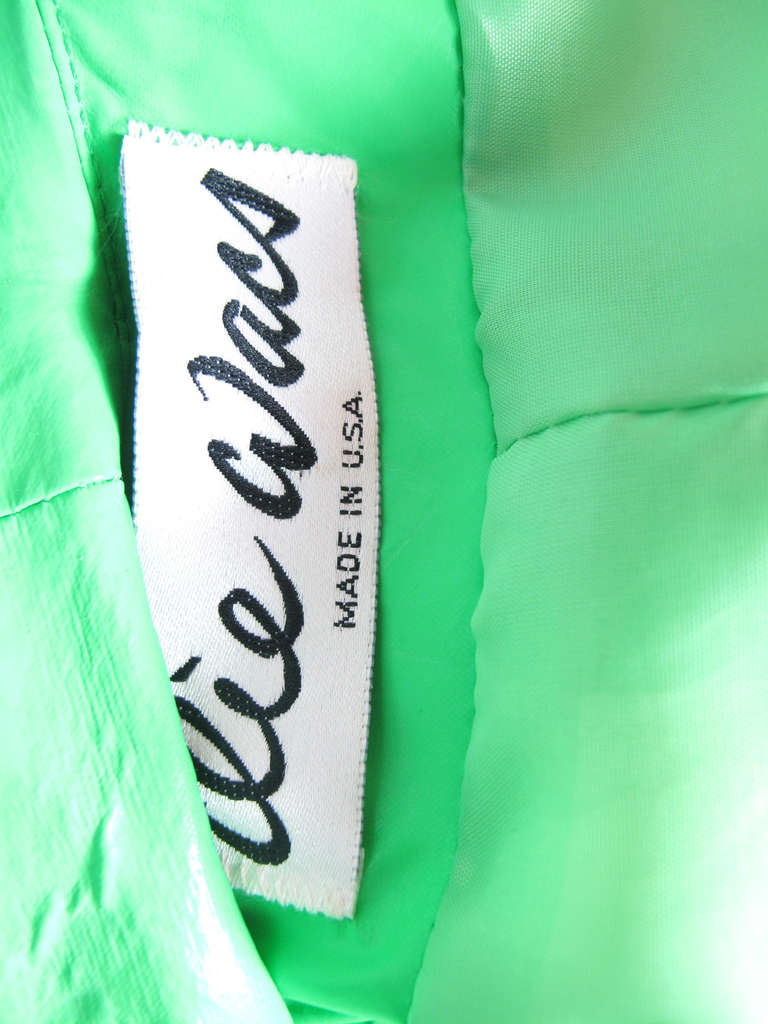 1970s Ilie Wacs bright green raincoat 3