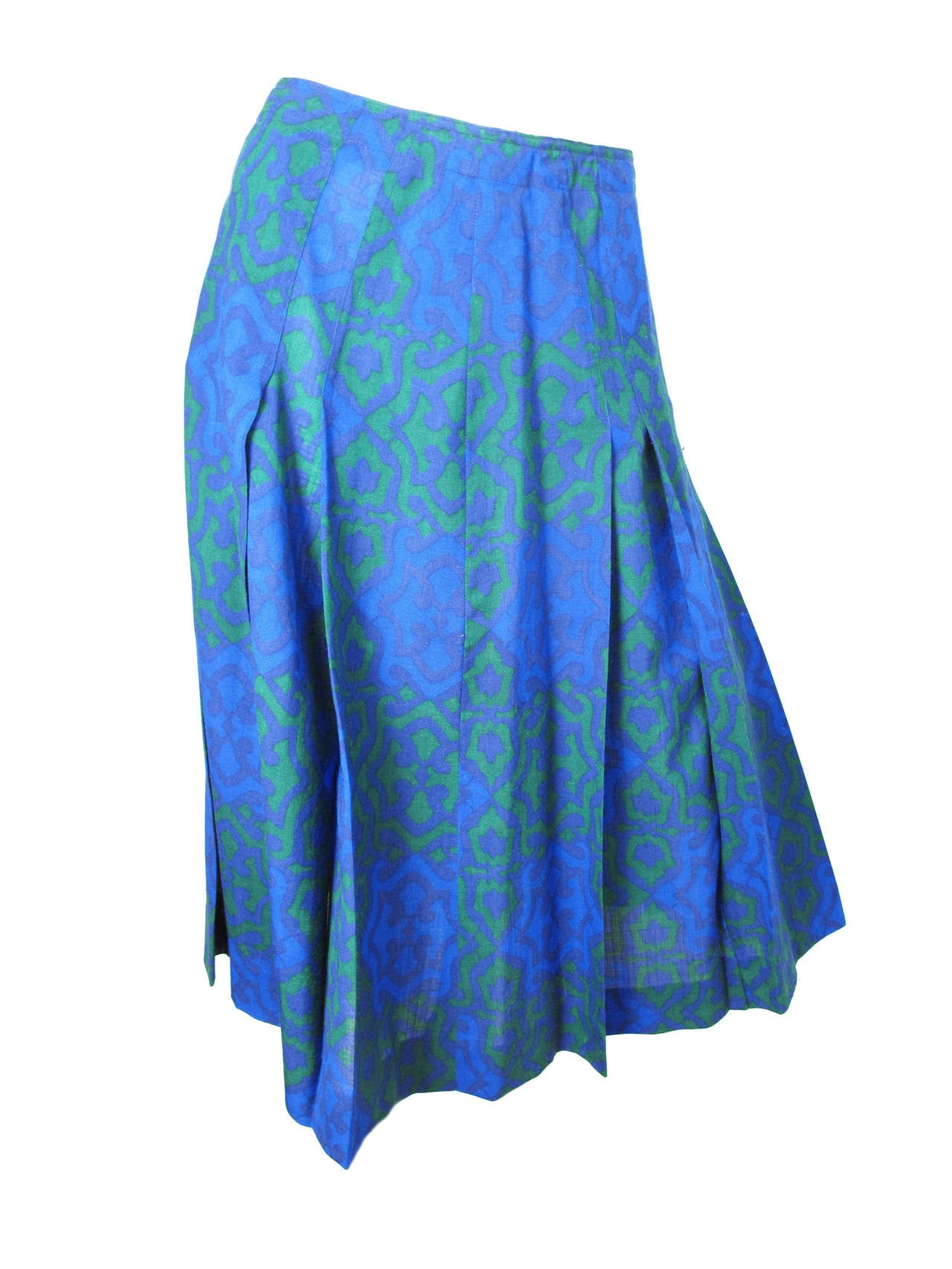 laroche green and blue top and skirt at 1stdibs