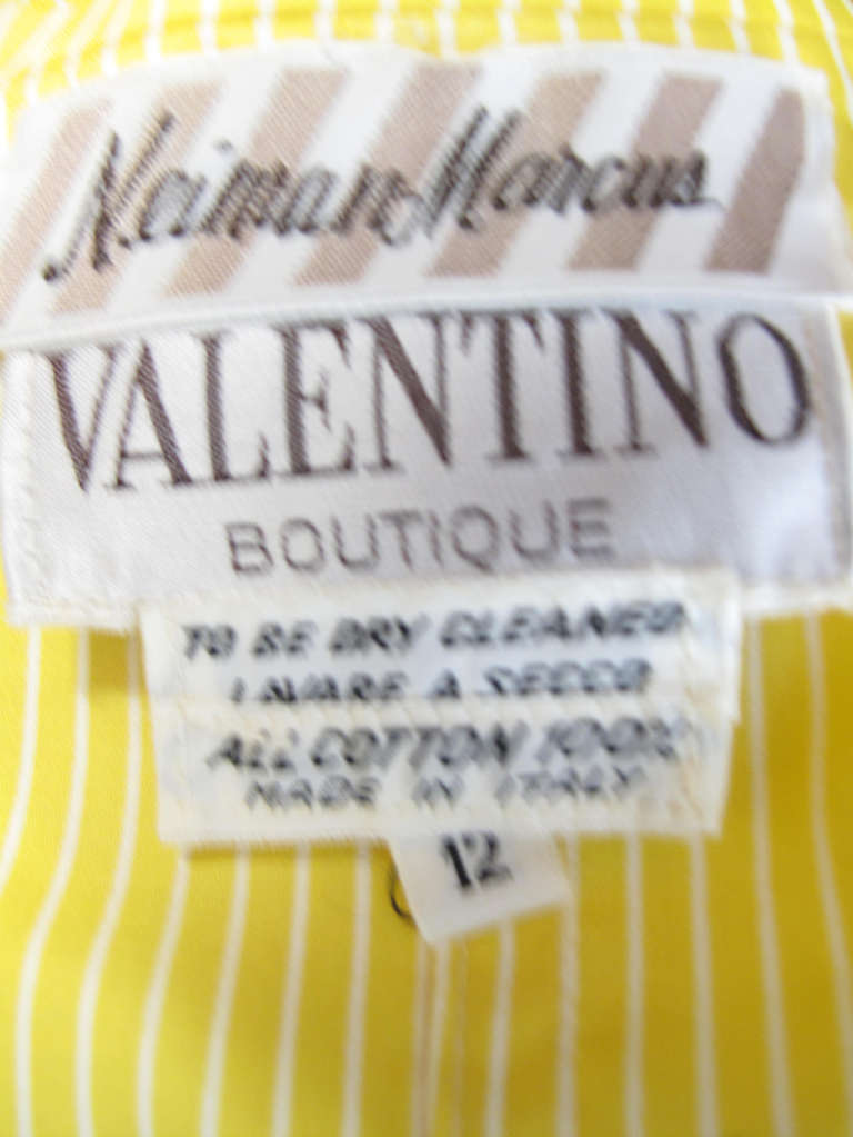 1970s Valentino yellow and white striped cotton jacket 5