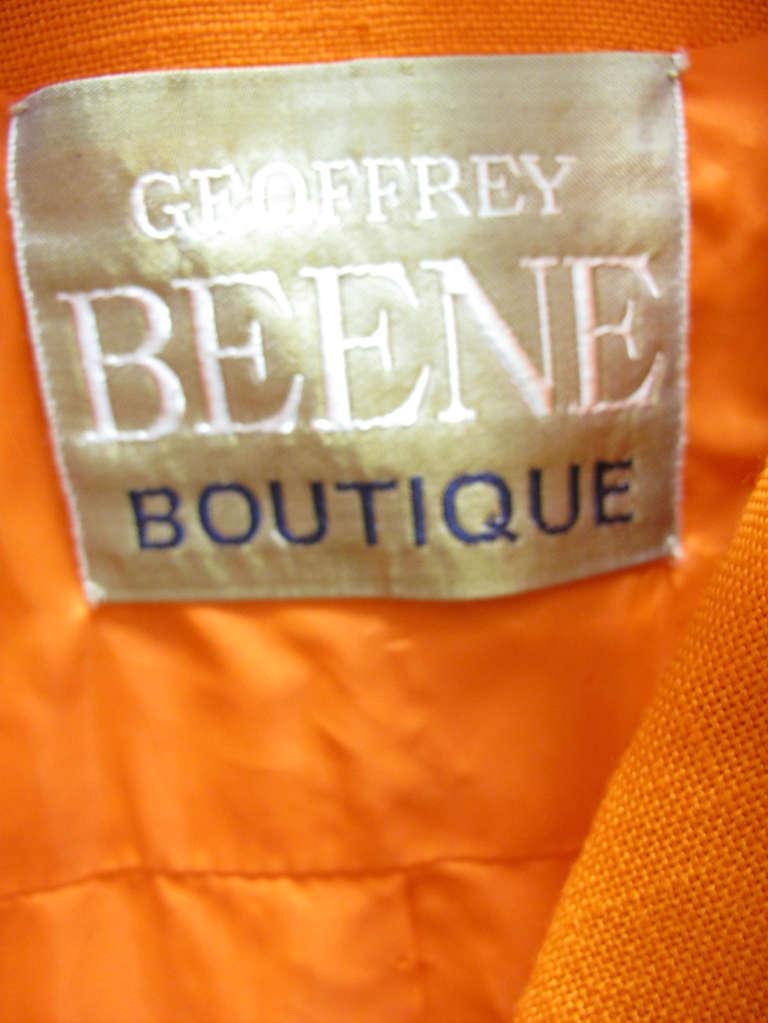 1960s Geoffrey Beene Linen Jacket In Excellent Condition For Sale In Austin, TX