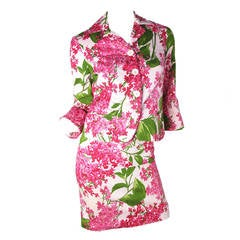 Moschino Cotton Floral Suit