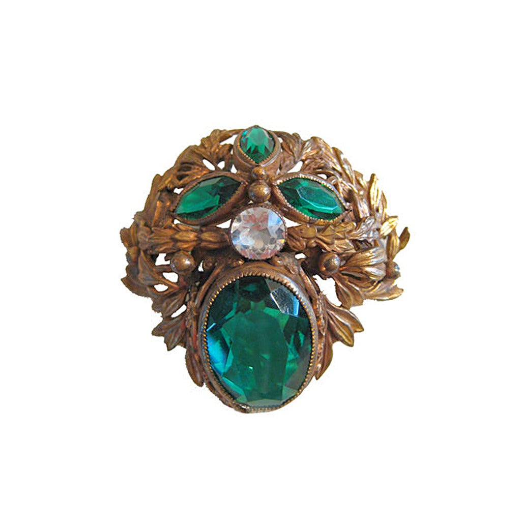 1940s Joseff of Hollywood Large Brooch  For Sale