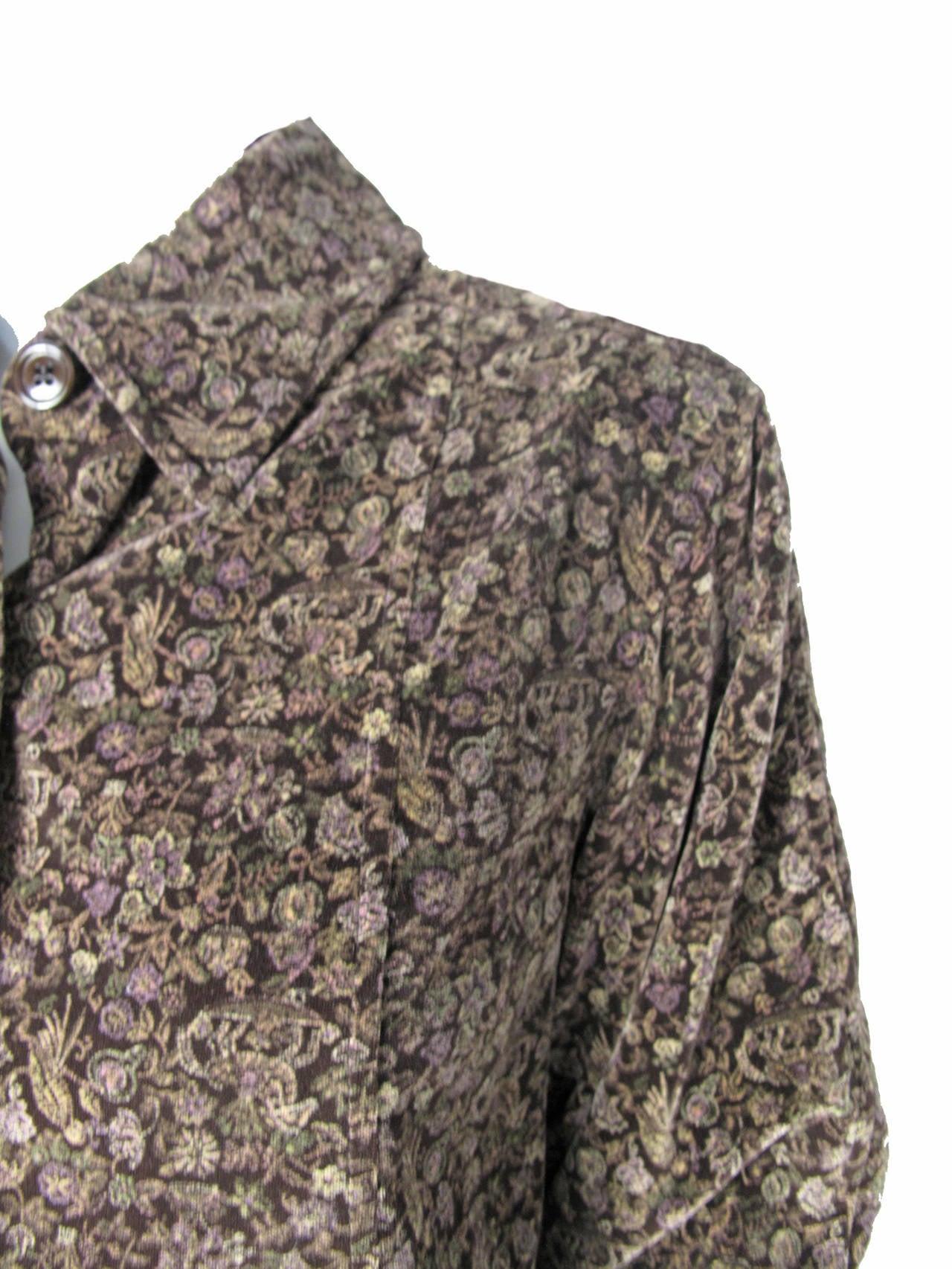 Women's 1970s Oscar de la Renta Velvet Jacket and Wool Skirt For Sale
