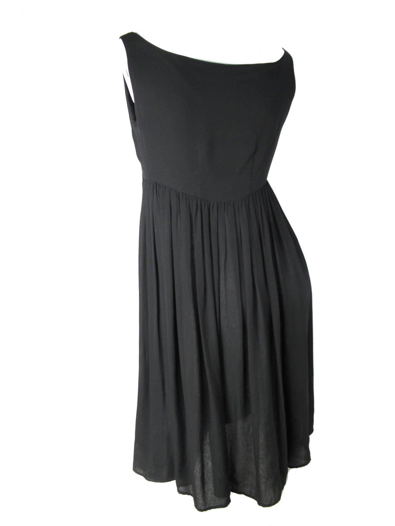1960s Rudi Gernreich Black Silk Chiffon Baby Doll Dress  In Fair Condition For Sale In Austin, TX
