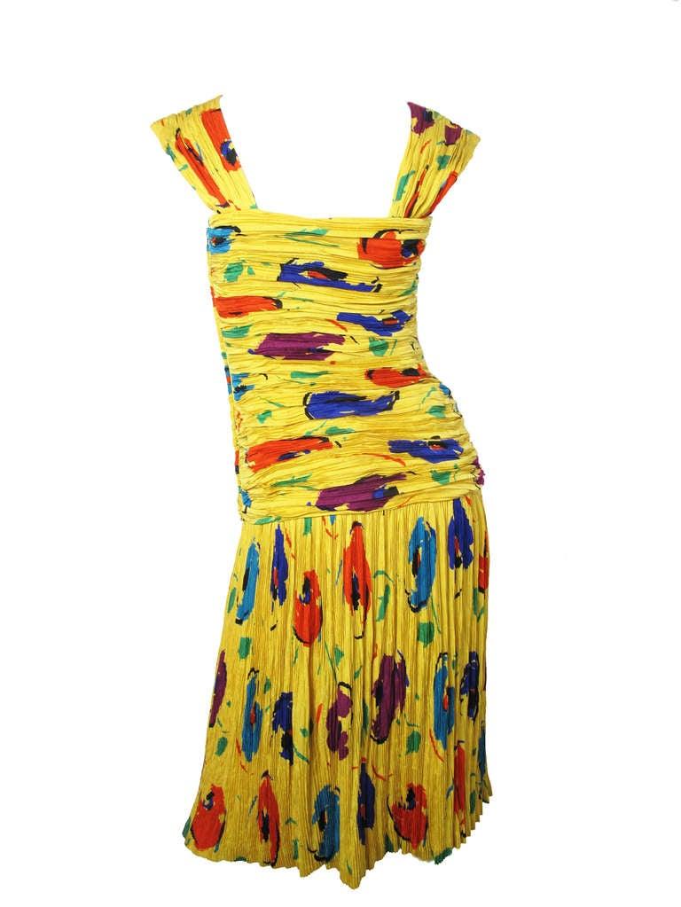 1970s Early 80s Ungaro Silk Dress At 1stdibs