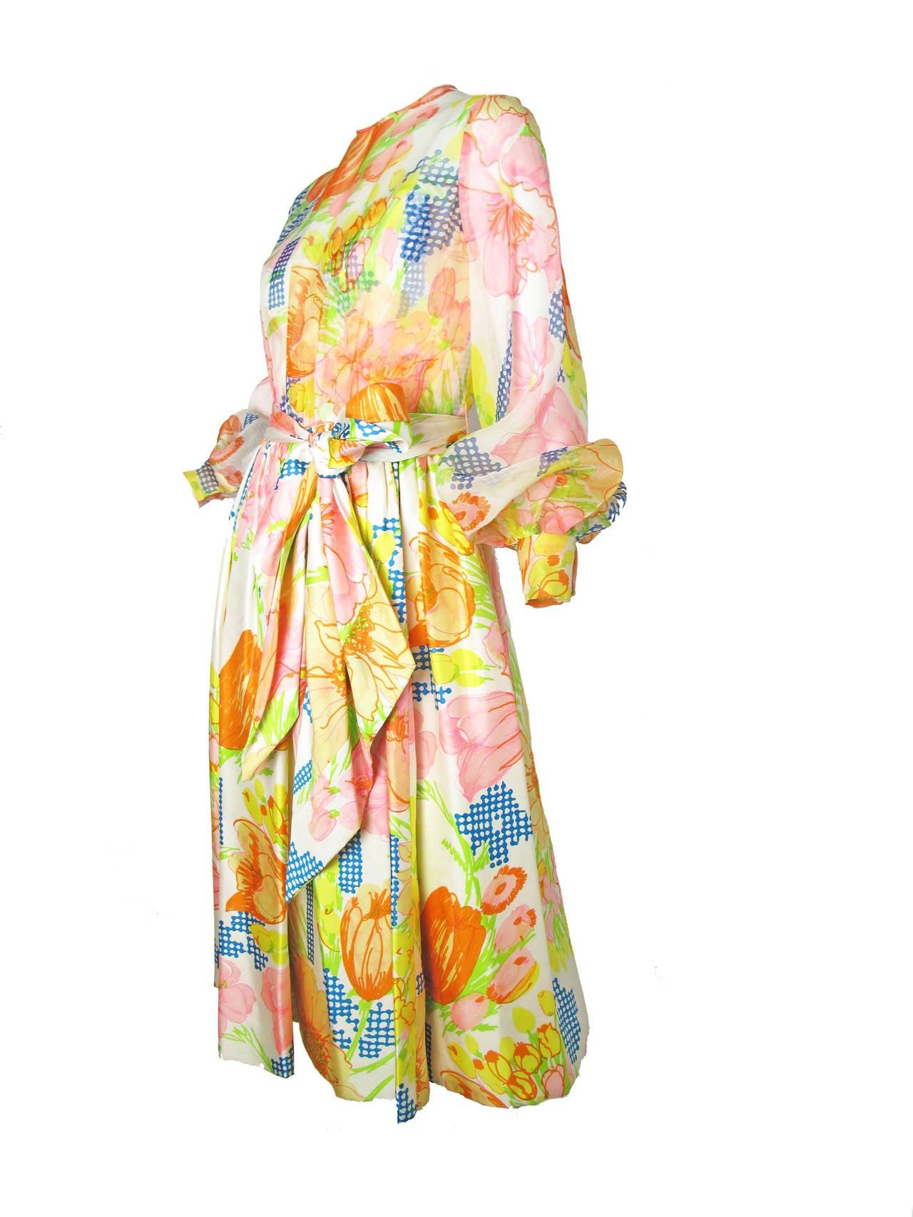 1960s Kiki Hart Floral Dress 2