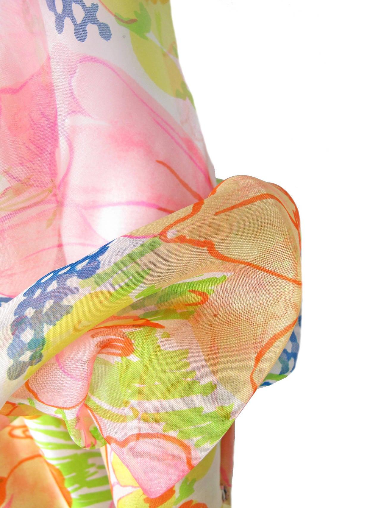 1960s Kiki Hart Floral Dress 5