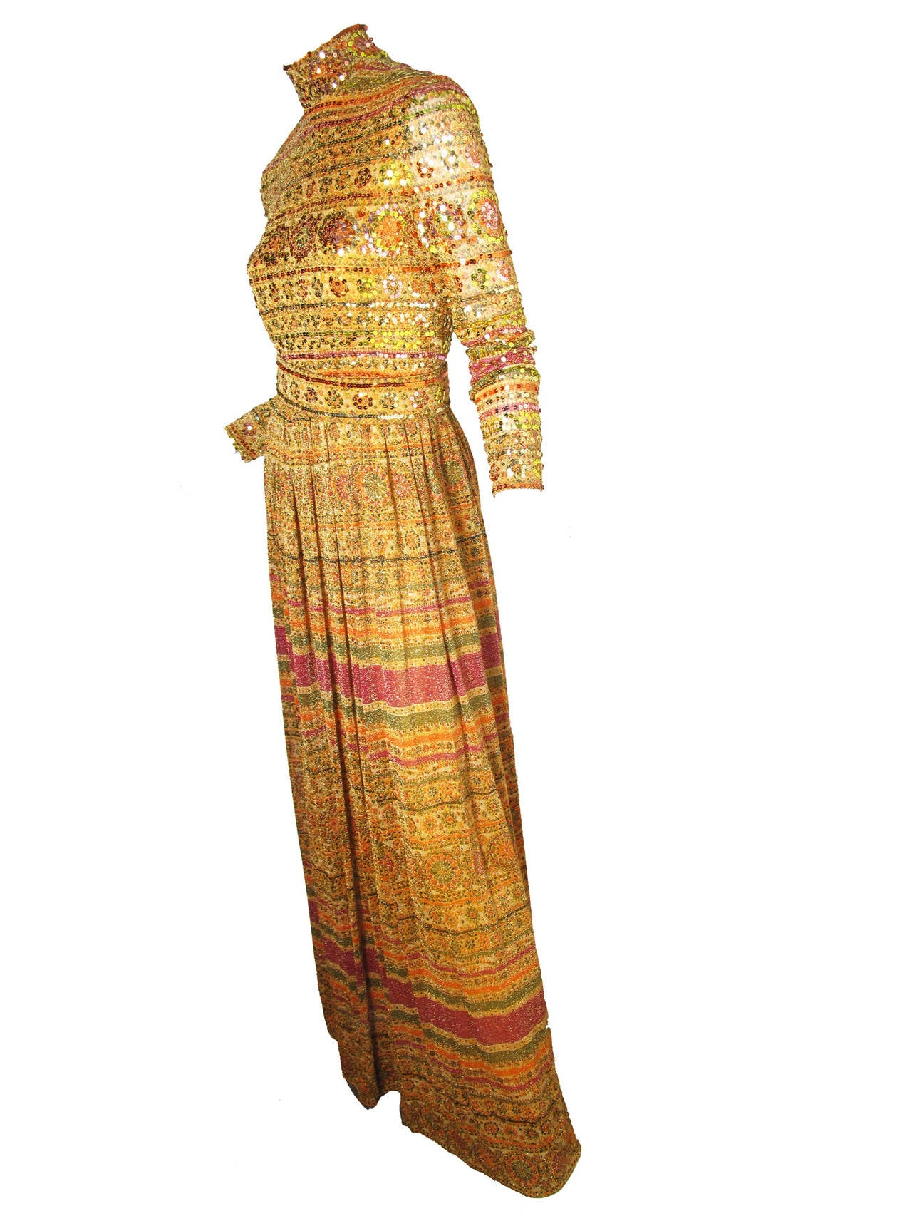 1970s Donald Brooks Evening Gown 5