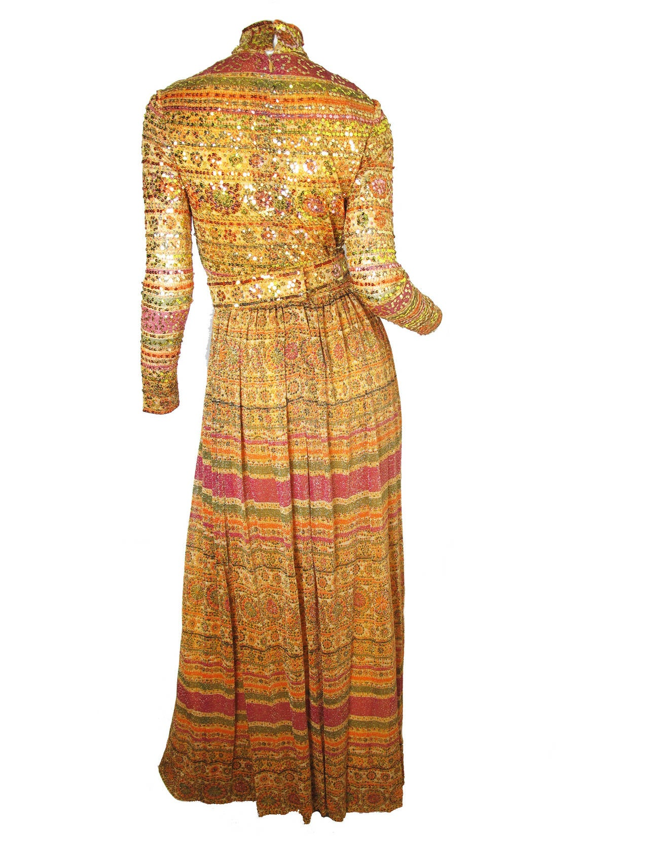 1970s Donald Brooks Evening Gown 2