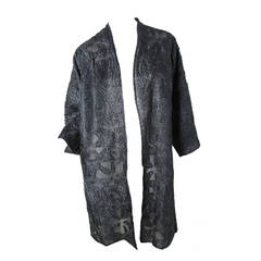 Rare Late 70s - early 80s Halston Beaded Lace Evening Coat