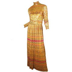 1970s Donald Brooks Evening Gown