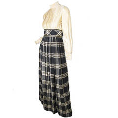 1970s Mollie Parnis Boutique Gown with Jacket