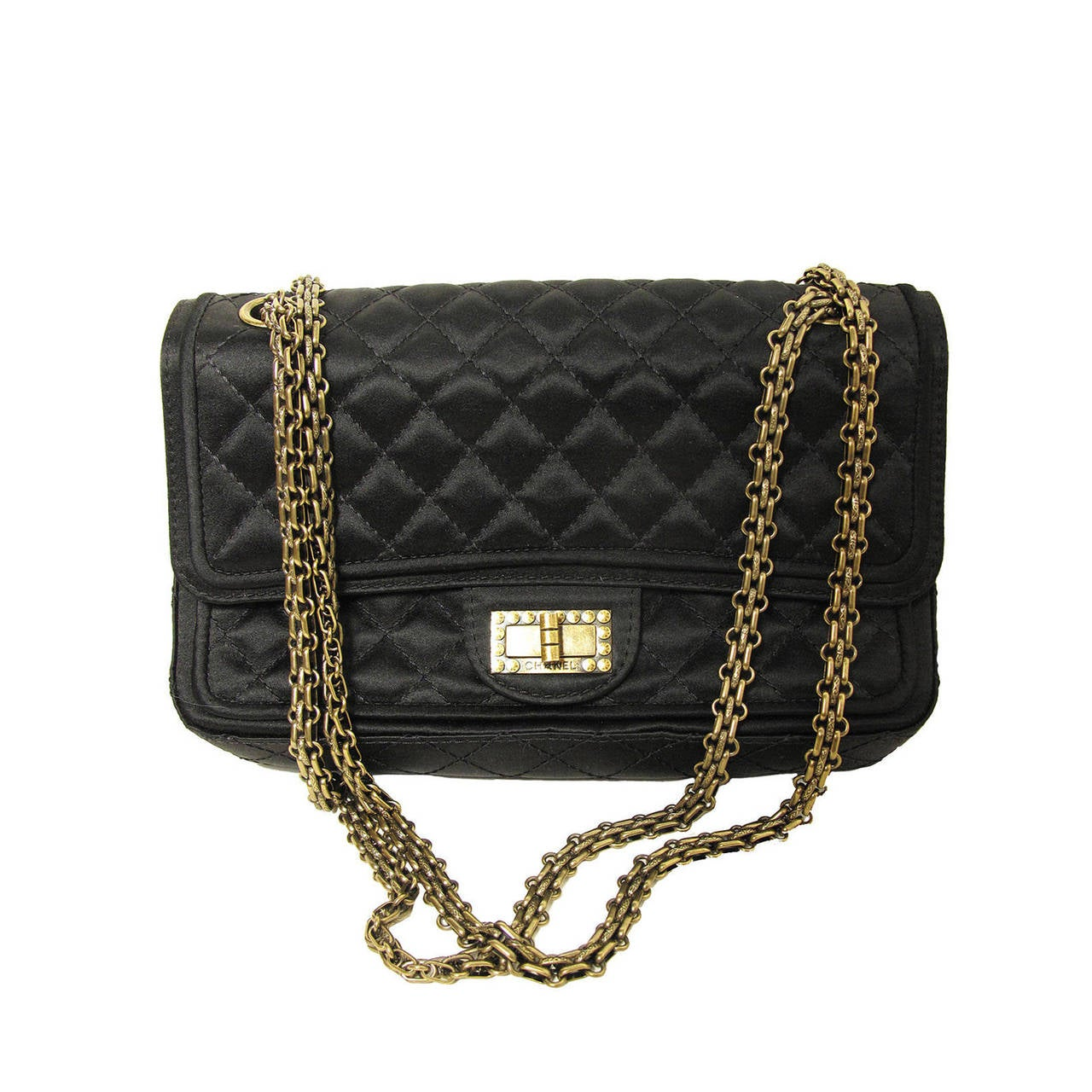 CHANEL 2.55 Double Flap Bag 2010 at 1stdibs