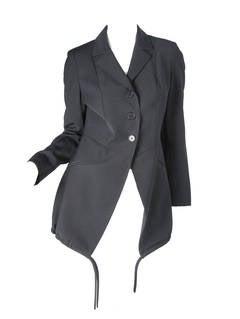 Moschino Long Black Blazer with Drawstring Ties