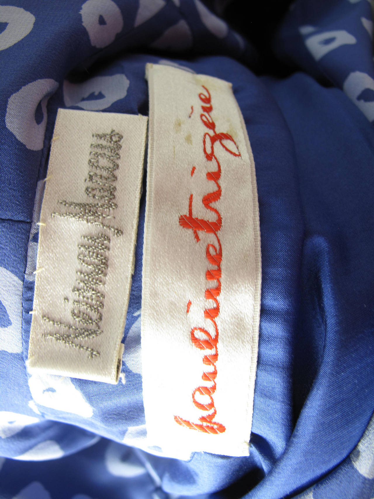Pauline Trigere Blue Silk Dress -sale 3
