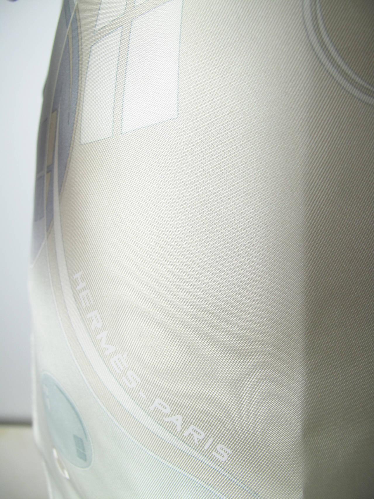 """Hermes Bal de Bulles """"bubble"""" Silk Blouse 6"""