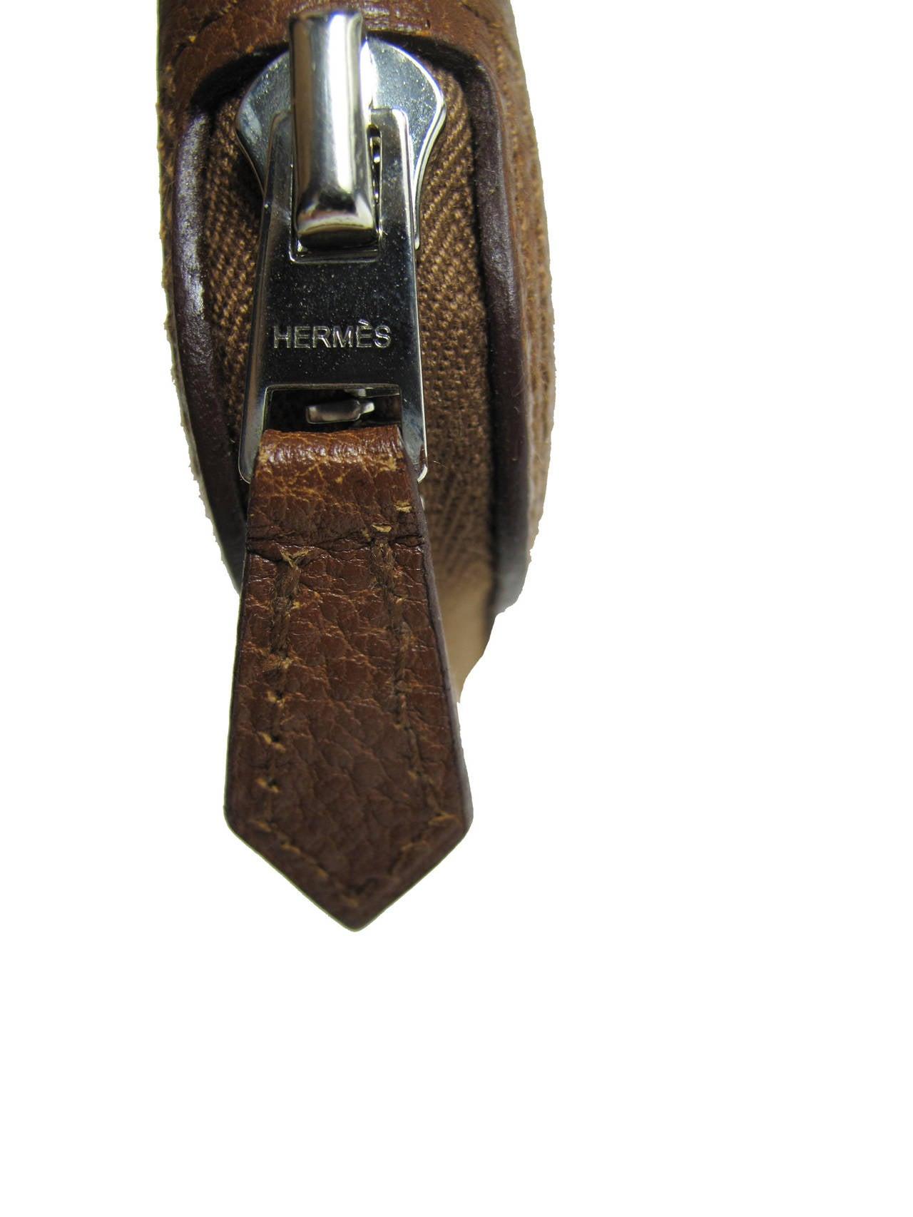 Rare Hermes Orange H Shopper Tote Collapsible Zip Handbag - sale 3