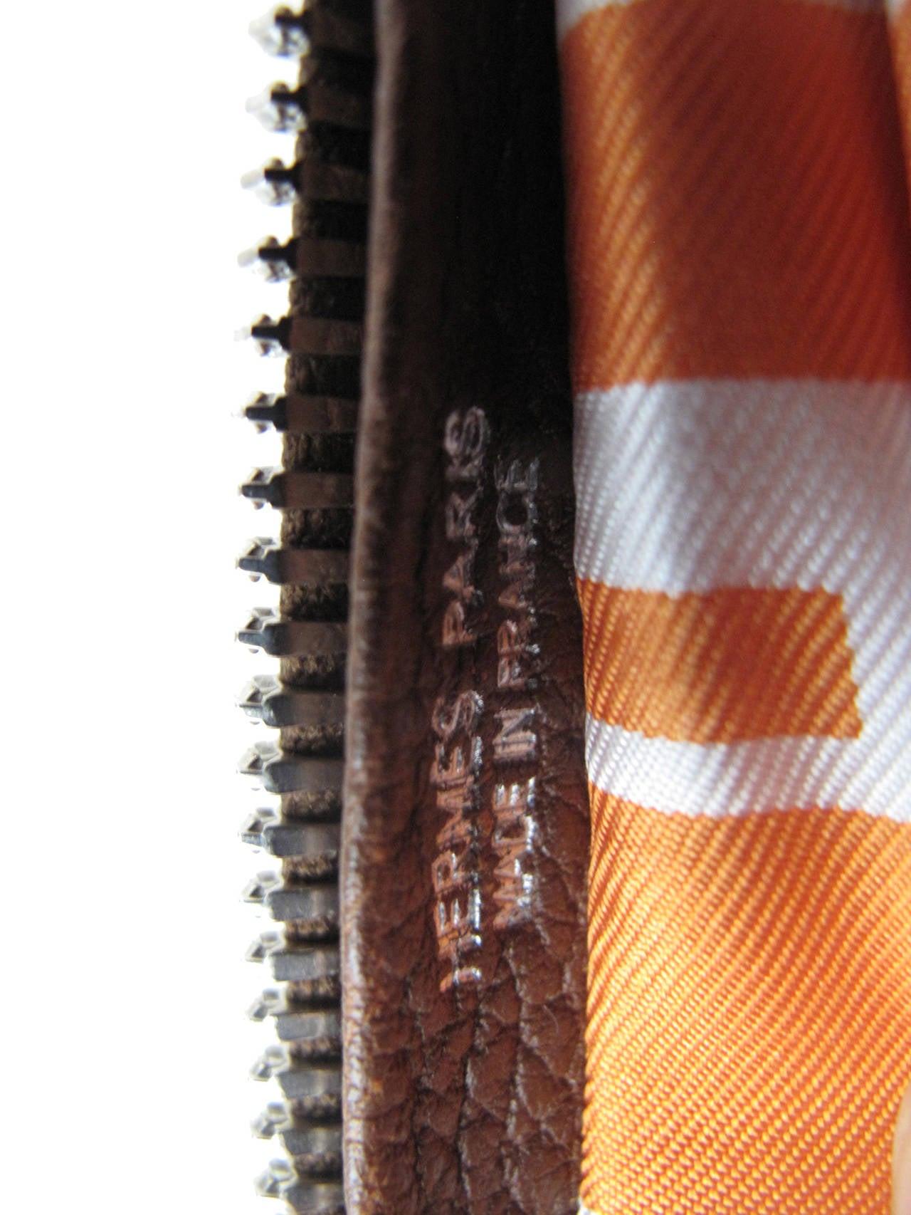 Rare Hermes Orange H Shopper Tote Collapsible Zip Handbag - sale 6