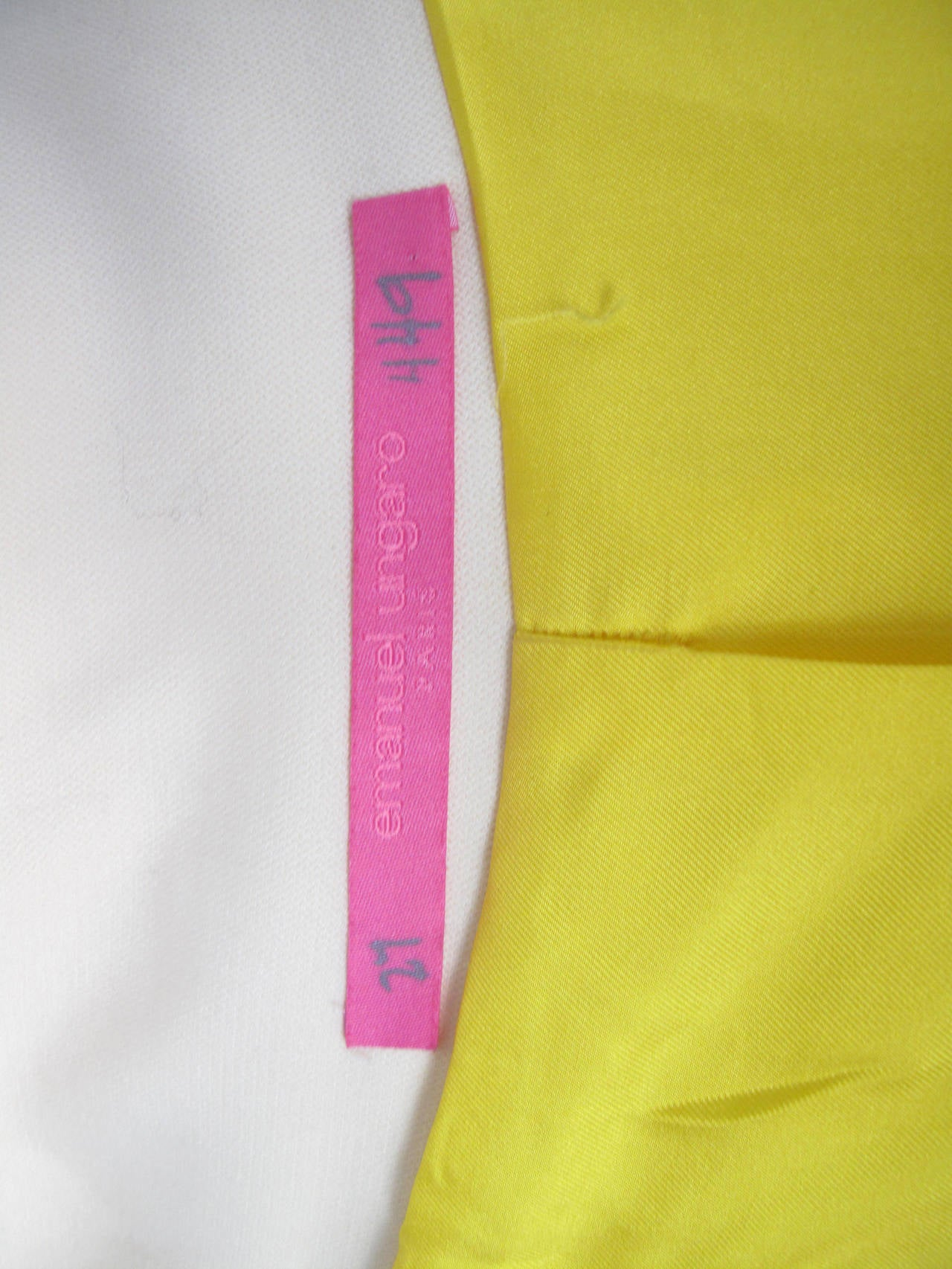 Ungaro Wool Coat Bright Yellow Silk Lining 5