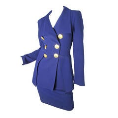 Christian Lacroix Suit with Large Metal Buttons