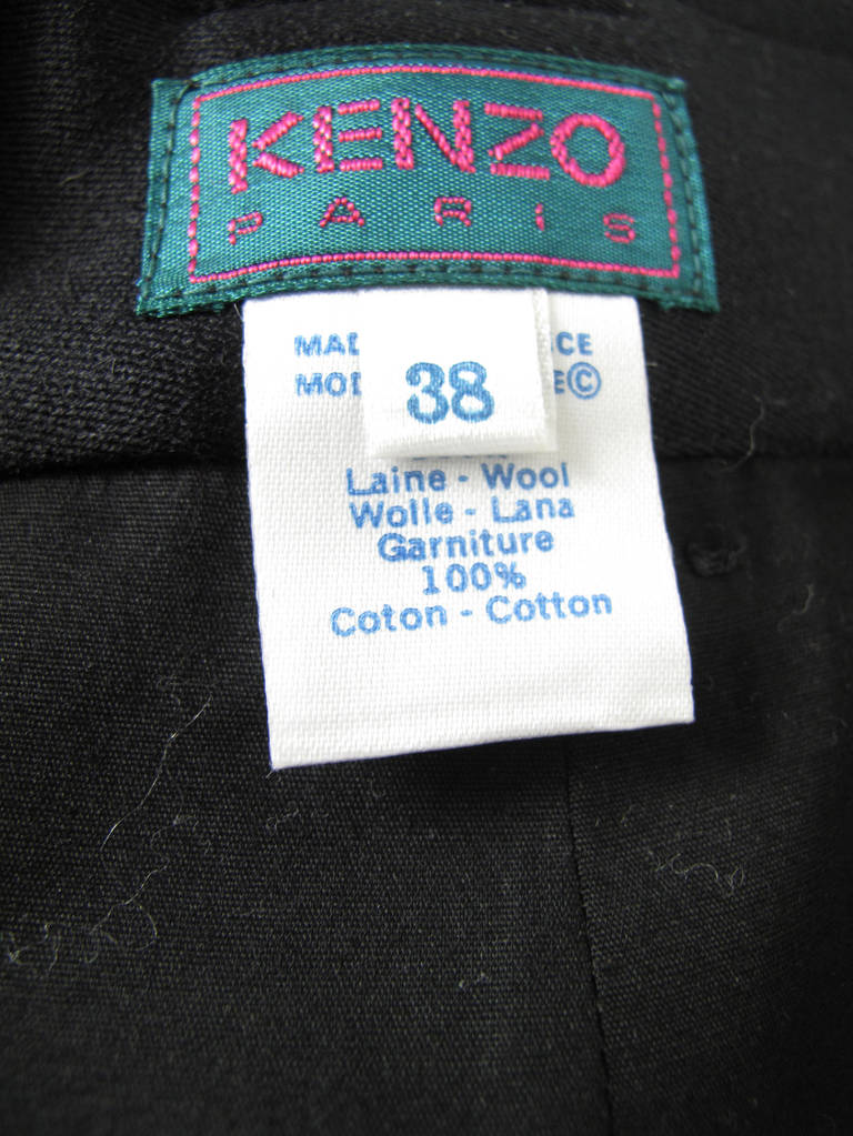 1980s Kenzo long black skirt 5