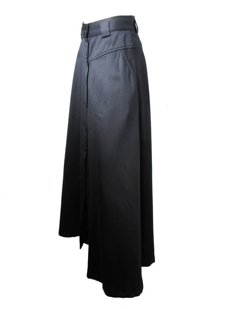 1980s Kenzo long black skirt 3