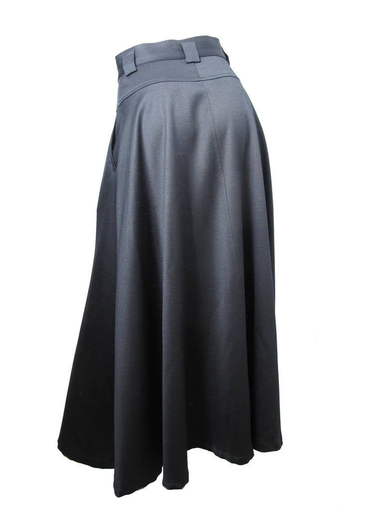 1980s Kenzo long black skirt 4